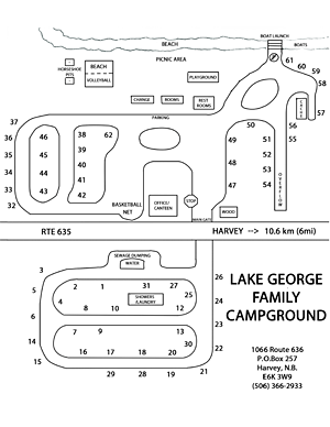 Lake George Campground Map