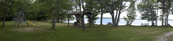 Panoramic view of Lake George Family Campground