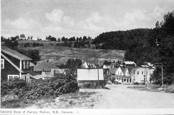Postcard of Harvey, New Brunswick.