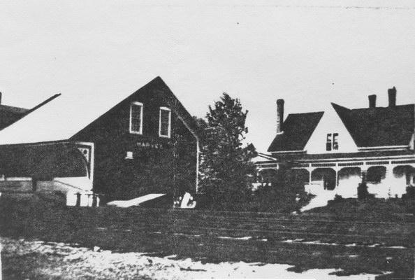 Photograph of a Farm house where James Robert (Jimmie) Swan and Mary Winifred (Mame) Swan lived in Tweedside overlooking Oromocto Lake. The house was eventually enlarged and shared with son Earl and wife Dora.