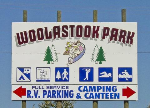 Woolastook Park sign
